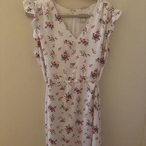 LOFT White Floral Dress